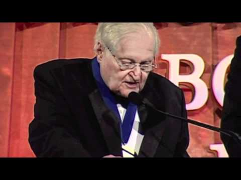 John Ashbery accepts lifetime achievement award at  2011 National Book Awards
