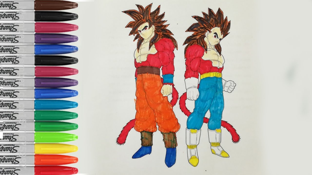 Goku And Vegeta Super Saiyan 4 Coloring Book Pages Dragon Ball Z Sailany Coloring Kids