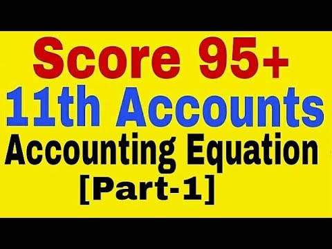 Accounting Equation Class 11th Accounts