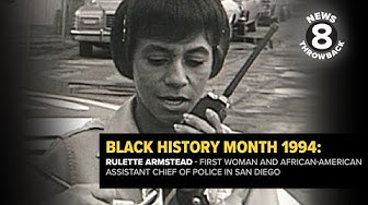 Rulette Armstead in 1994: First woman and African-American Assistant Chief of Police in San Diego
