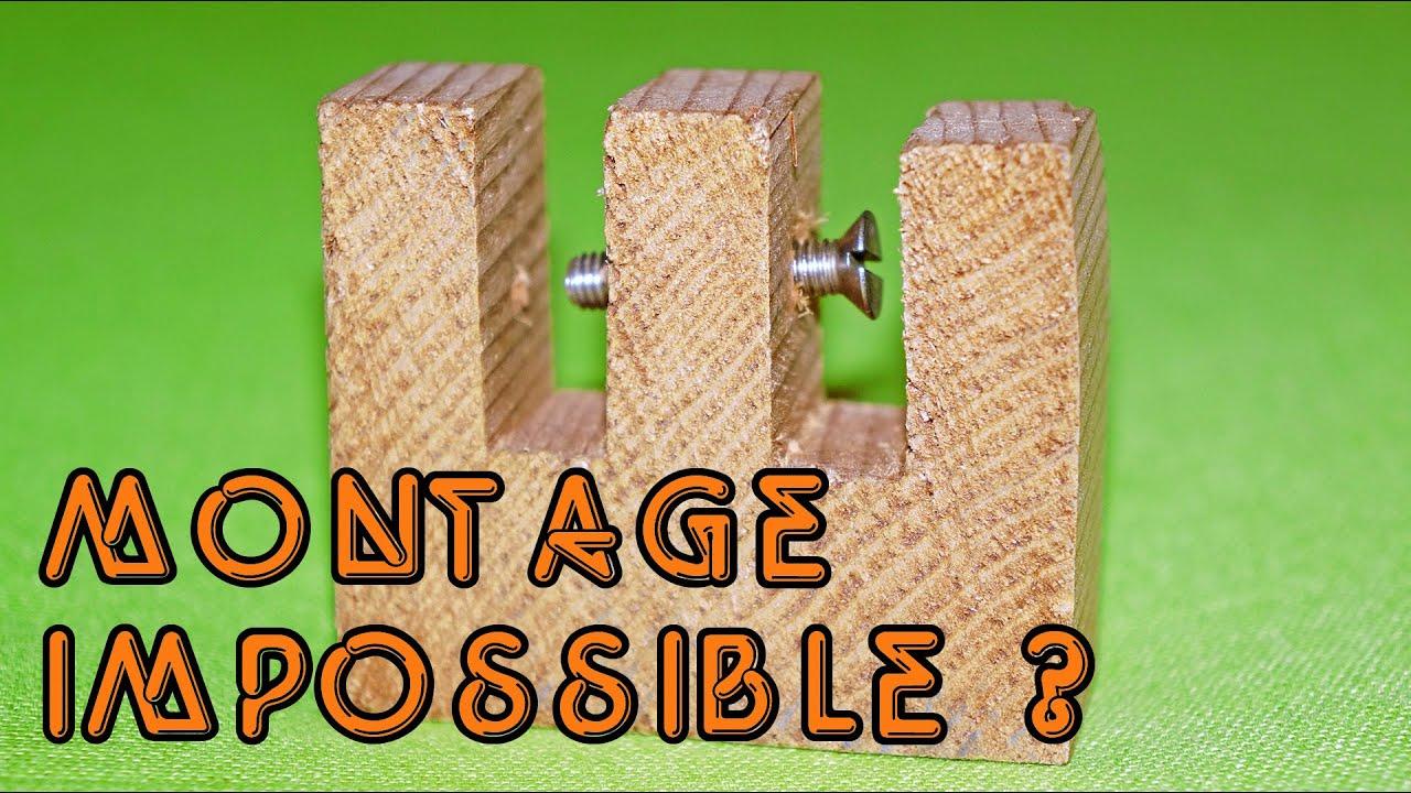 Clouà l'intérieur d'une pi u00e8ce en bois, un vrai casse t u00eate !!! YouTube # Solution Casse Tete En Bois