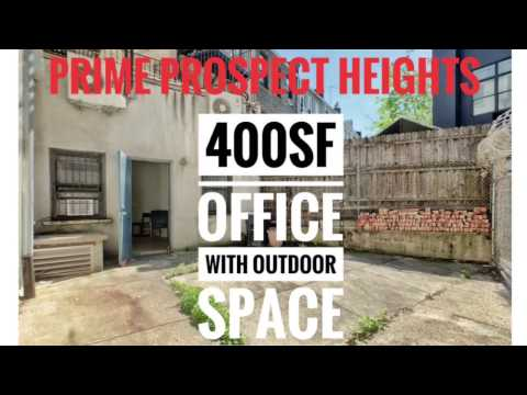 Video Tour 👍 Commercial Office Space with Private Outdoor Space in Prime Prospect Heights Brooklyn