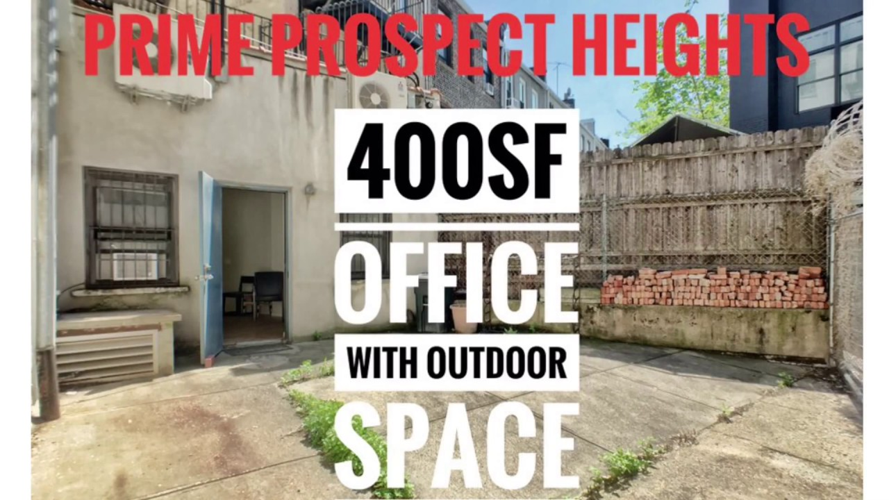 outdoor office space cool video tour commercial office space with private outdoor in prime prospect heights brooklyn