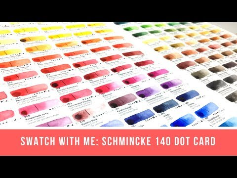 Swatch with Me: All the Schmincke! | Schmincke Horadam 140-Color Dot Card