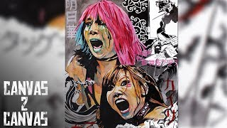 The Kabuki Warriors' Colorful Display – WWE Canvas 2 Canvas