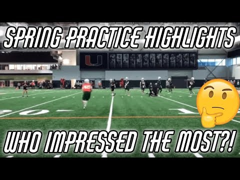 Miami Hurricanes | Spring Practice Day 1 Highlights