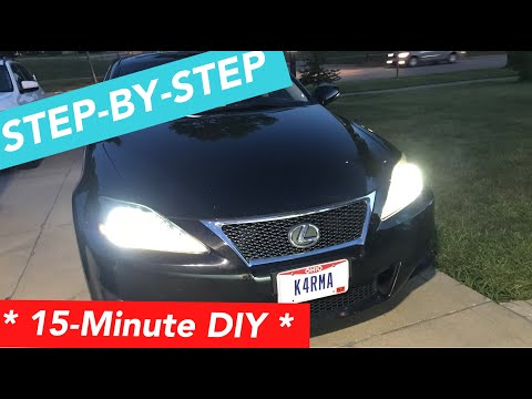 How to change Lexus IS250/ IS350 headlight bulbs! *STEP BY STEP*