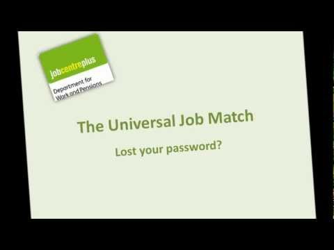 Universal Job Match - changing your password