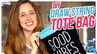 DIY Drawstring Bag Made From A Shirt! - Do It, Gurl