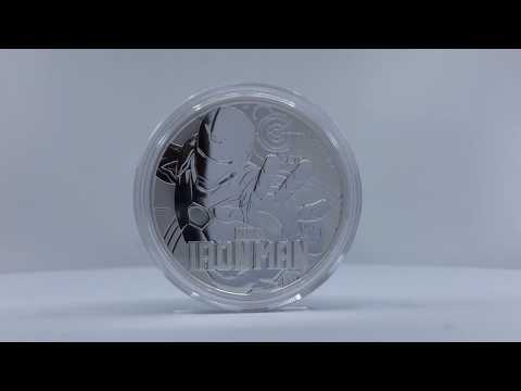 LPM Spinning Video! Perth Mint Marvel Series - Ironman .9999 Silver Coin