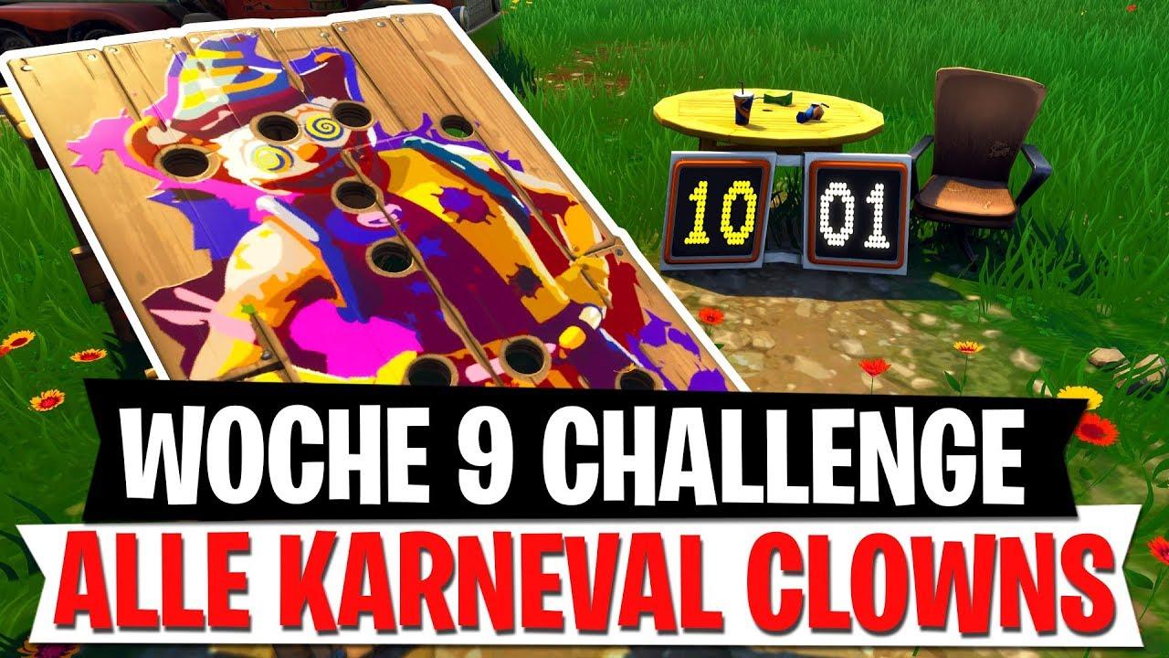 Karneval Clown Herausforderung Woche 9 Season 6 Challenge