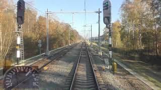 Meerijden met de machinist van Utrecht naar Arnhem. (Met snelheidsmeter)