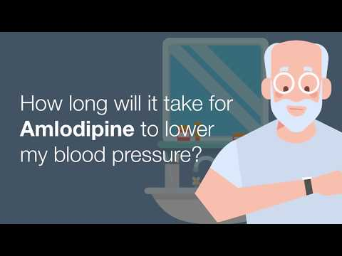 How long will it take for Amlodipine to lower my blood pressure?
