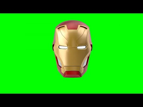 Green Screen Iron Man Helmet / Mask various angles