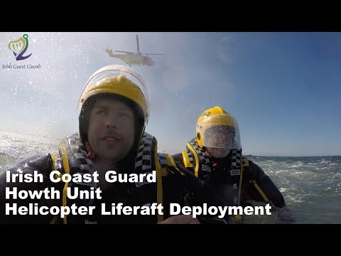 The Helicopter Liferaft Deployment - Irish Coast Guard Howth - Rescue 116