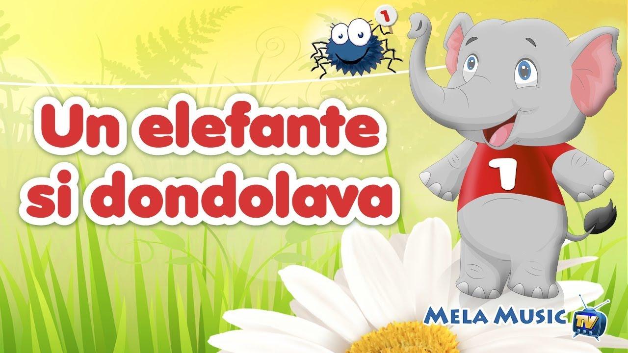 un elefante si dondolava canzoni per bambini di mela