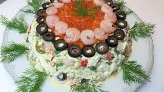 Крабовый Салат ИЗЫСКАННЫЙ, безумно вкусный.  (для особенных случаев).  Crab's Salad.