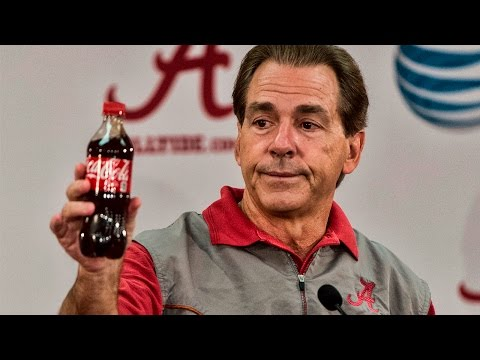 Nick Saban uses a Coke bottle to explain Kirby Smart