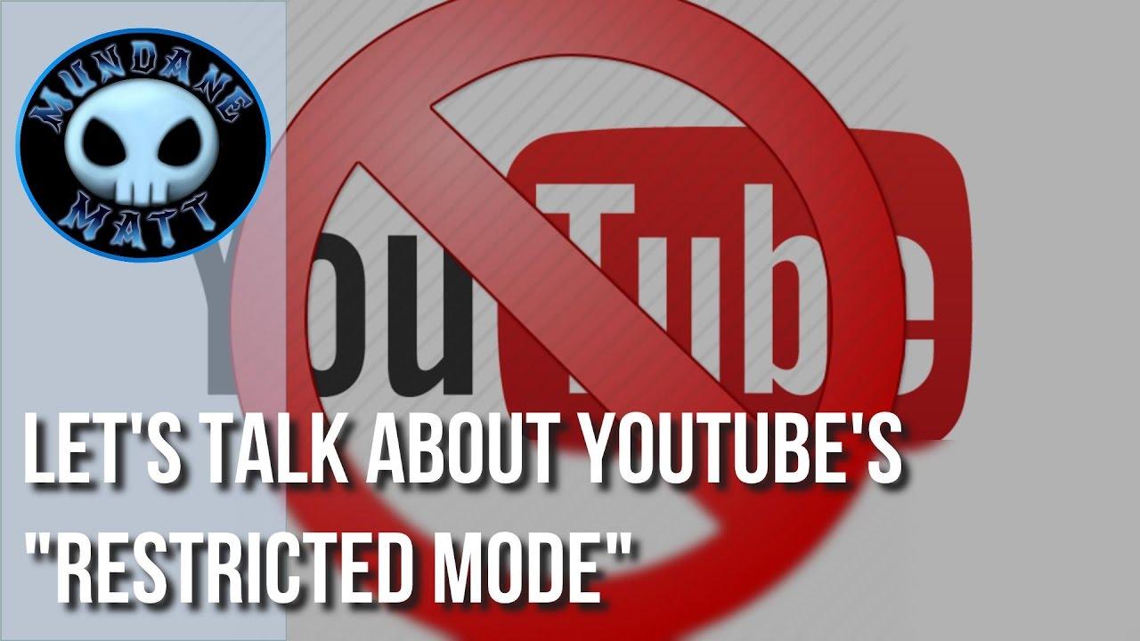 internet let 39 s talk about youtube 39 s restricted mode. Black Bedroom Furniture Sets. Home Design Ideas