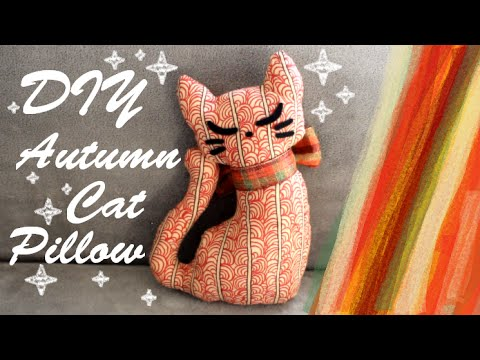 Diy Autumn Cat Pillow Cute And Easy Fall Room Decor Youtube
