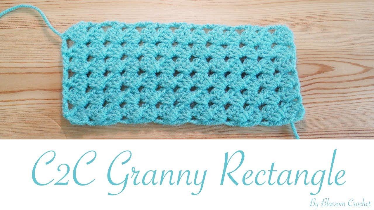 Easy Crochet C2c Granny Rectangle Youtube