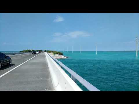 BICYCLE ACROSS USA 24 - riding in the Florida keys down to key west