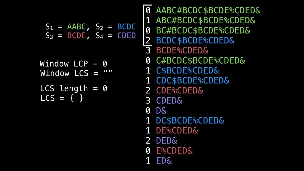 Longest common substring problem suffix array part 2