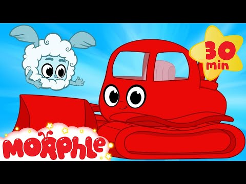My Red Bulldozer And The Magic Weather- My Magic Pet Morphle bulldozer videos for kids