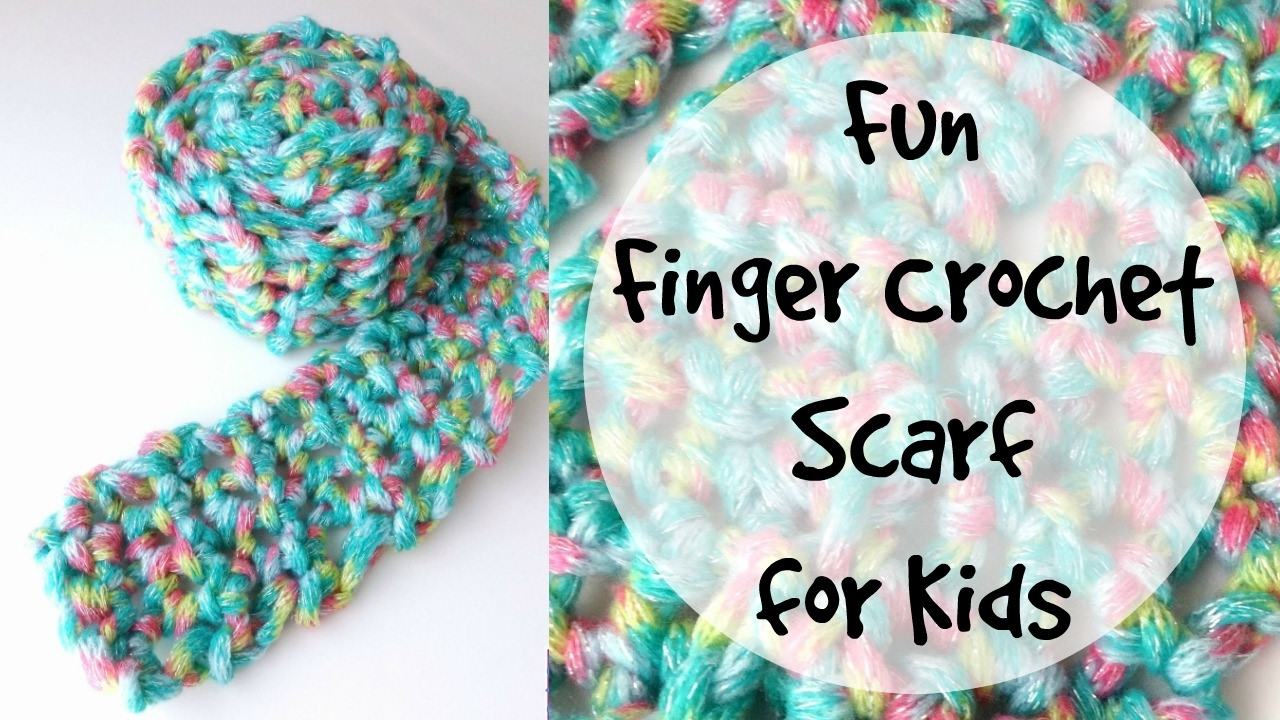 How To Finger Crochet A Fun Kids Scarf Episode 220 Youtube
