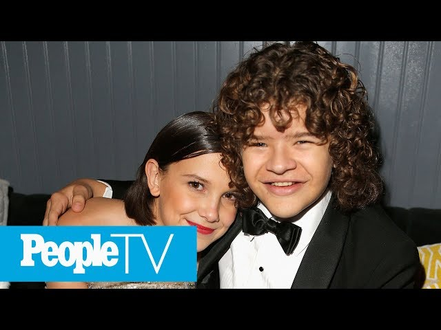 Millie Bobby Brown & Gaten Matarazzo Make Fans Stranger Things Party Extra Special | PeopleTV