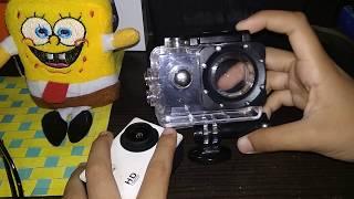 Cara memasang waterproof action camera