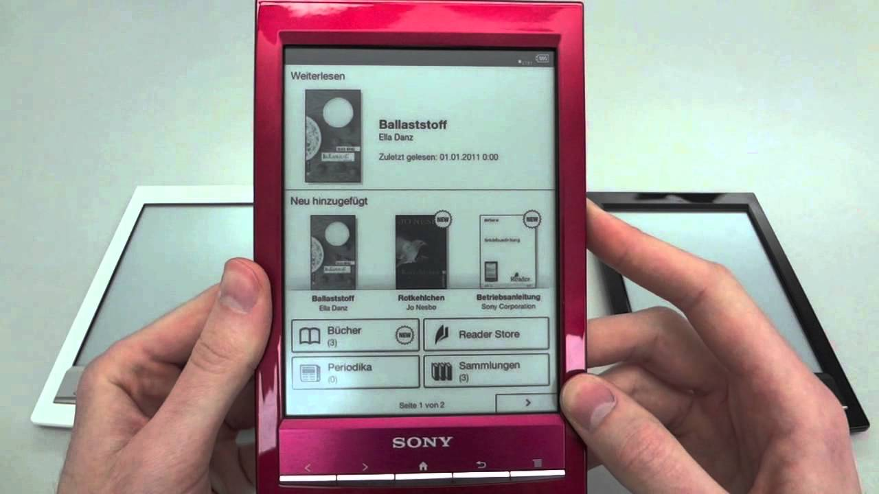 sony ebook reader bücher