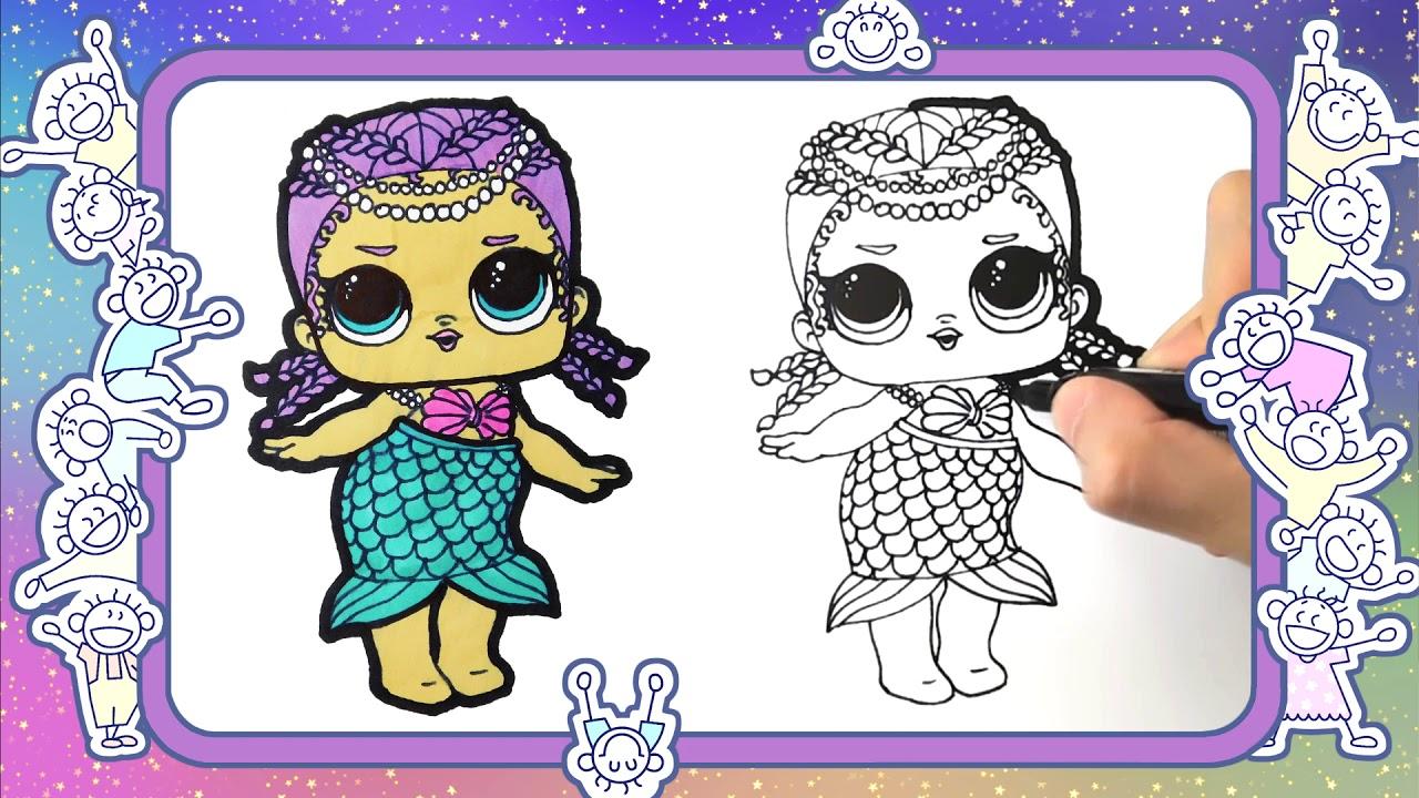Как нарисовать куклу лол Merbaby. Веселые раскраски. видео ...