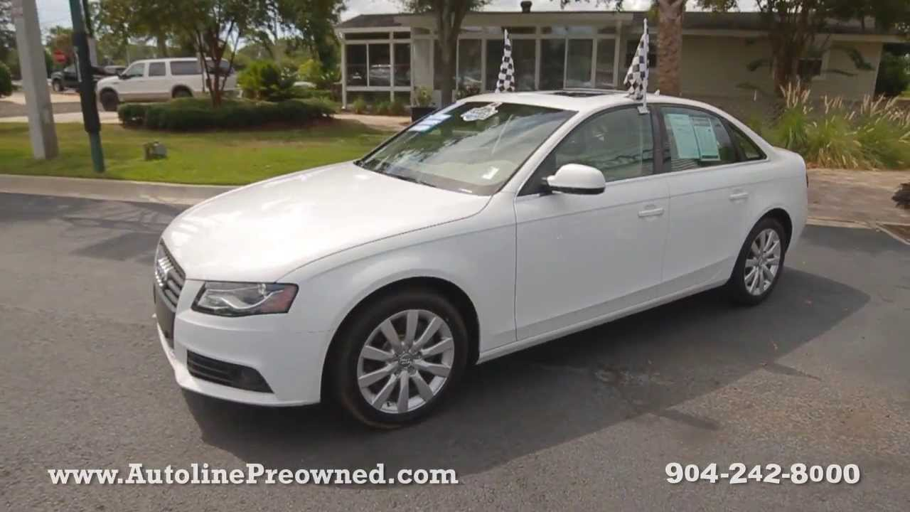 autoline preowned 2011 audi a4 2 0t premium plus for sale used walk around review jacksonville. Black Bedroom Furniture Sets. Home Design Ideas