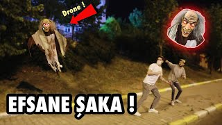 SCARY DRONE FLYING GHOST PRANK ! Pranks in Turkey 2020