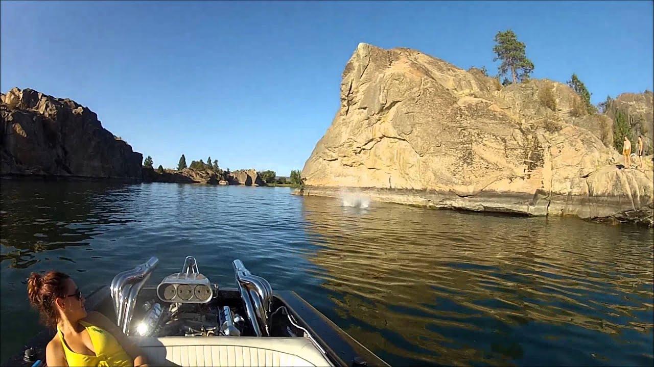Banks lake cliff jumping youtube for Banks lake fishing