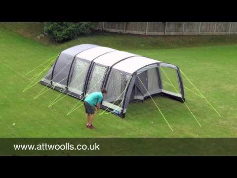 Kampa Hayling 4 & 6 Air Pitching & Packing Video (Real Time)