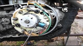 Как выставить зажигание на мотоцикле Минск
