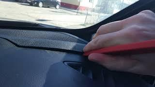 Как снять накладки твитеров на Mazda CX-5