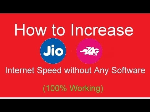 [Hindi] How to Increase Jio 4g Internet Speed without any vpn software(100% working with Proof)