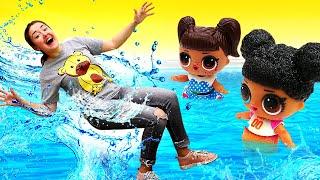 Куклы Мир ЛОЛ ( LOL surprise) гуляют впарке— Веселая Школа— Видео для детей скуклами