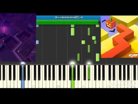 Halloween Dancing Line Piano Synthesia + Music Sheet