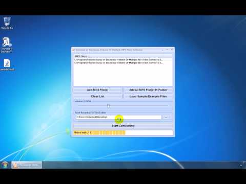 How To Use Increase or Decrease Volume Of Multiple MP3 Files Software