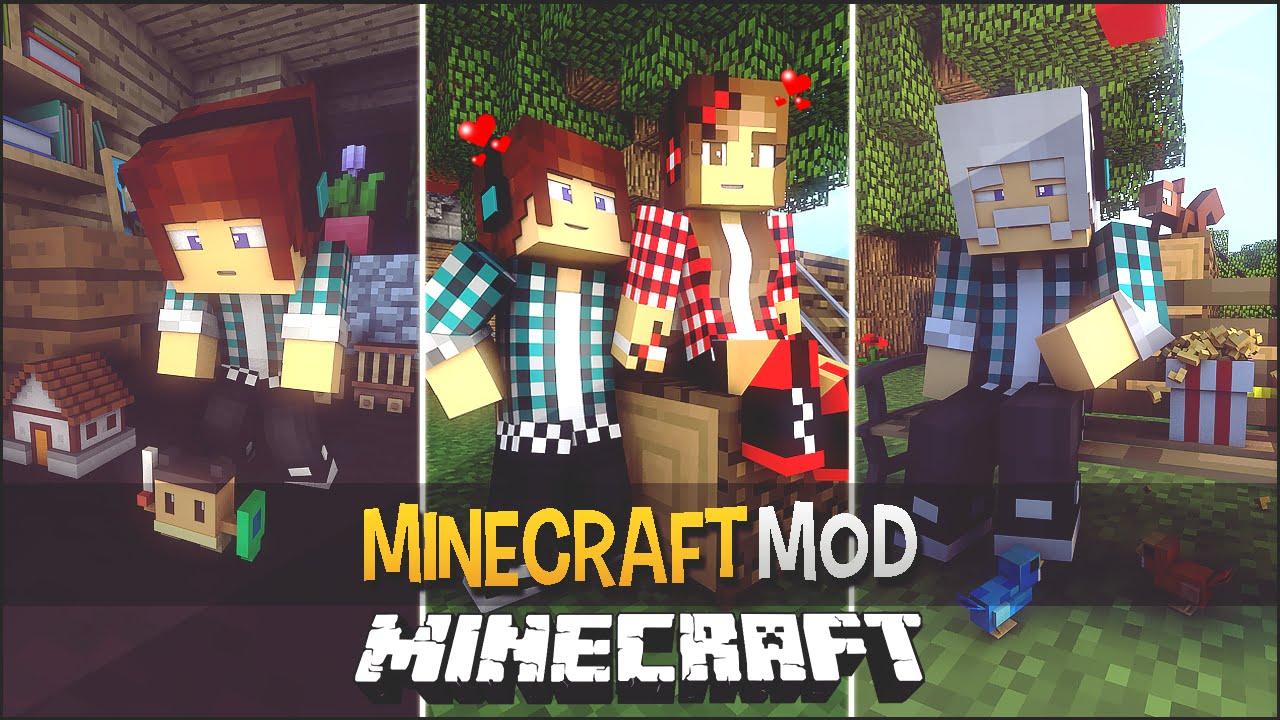 minecraft mod vida real no minecraft the ageing mod youtube. Black Bedroom Furniture Sets. Home Design Ideas