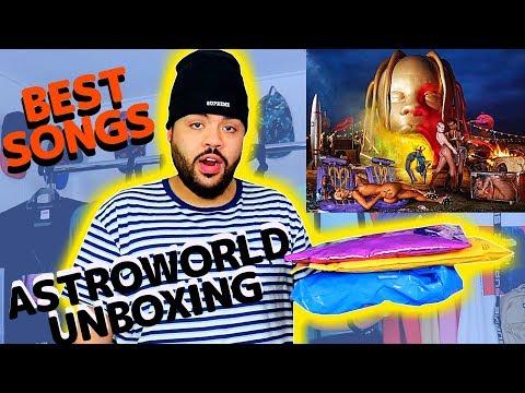 TRAVIS SCOTT MERCH UNBOXING + BEST ASTROWORLD SONGS (Worth It?)