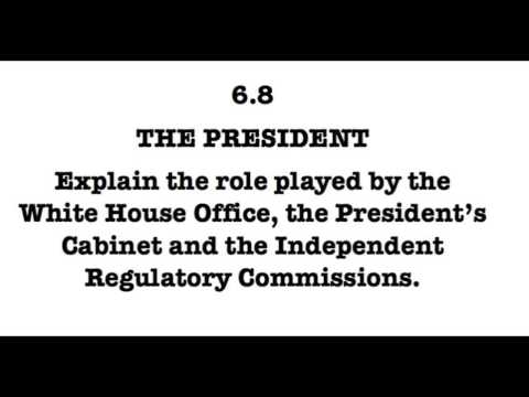 6.8 Discuss the White House Office, Cabinet and Independent Regulatory Commissions.