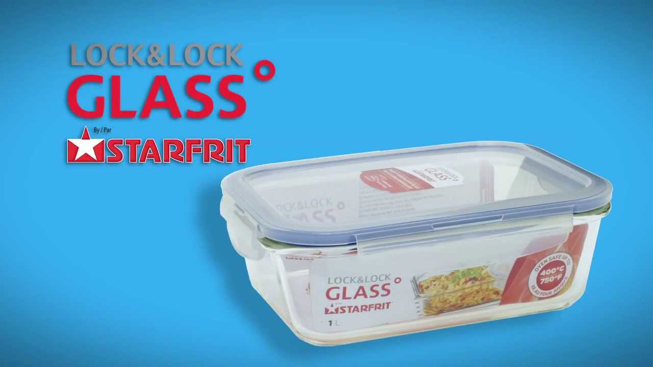 Lock Lock Glass English Glass storage container with bonus