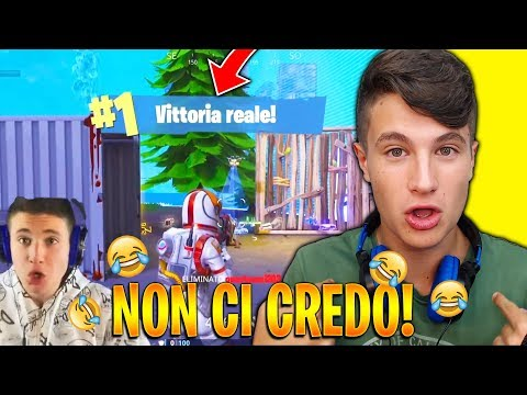 LA MIA PRIMA VITTORIA REALE SU FORTNITE!😂 Reaction Leggendaria