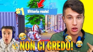 MY FIRST REAL VITTORY ON FORTNITE!😂 Legendary Reaction