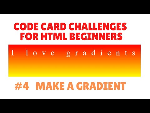 #4 Code Card Challenge for HTML Beginners